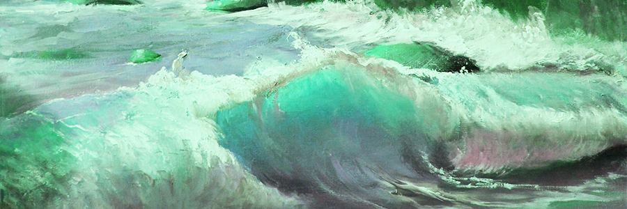 the sea in the painting